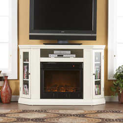 """Holly & Martin™ Ponoma Convertible Media Electric Fireplace-Ivory - Holly & Martin™ Ponoma Convertible Media Electric Fireplace-Ivory is perfect for additional media equipment shelf rests above the firebox and is complete with convenient back wall cord access. Requires no electrician or contractor for installation allows instant remodeling without usual mess or expense.48"""""""" W x 15.75"""""""" D x 32.25"""""""" H (Flat Wall)"""