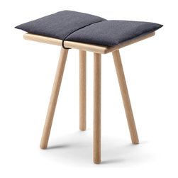 Skagerak - Georg Stool - Skagerak - Skagerak has set a standard for creating designer furniture that will last a lifetime. The Georg collection is no exception. Simple, pure and immediately classic, the smooth turned oak creates a comfortable atmosphere with unsurpassed utility. The entire line is perfect for those small out of the way places where space is at a premium. The Georg Bench, topped with a wool pad held in place with leather straps, grouped with the Georg rack and hangers make an inviting and convenient addition to a foyer, mudroom or hallway. The Georg Console and Stool, also topped with a wool pad, are the ideal addition to any room in the home. While the Georg Mirror rests lightly against a wall on its gently curved legs. Made of solid sustainable oak and finished in a clear lacquer that highlights the natural beauty of the wood, this collection is sure to become a favorite.