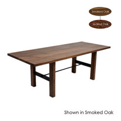 Lima Dining Table, Seared Oak/Small