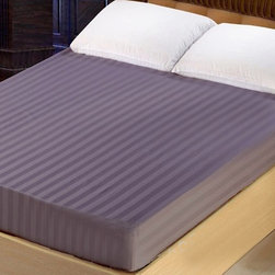 Lasin Bedding 300TC 100% Cotton Fitted Sheets, Queen, Purple - Made of 100% high quality cotton, our 300 thread count fitted sheets are soft and comfortable, just the way you need for a good night sleep.
