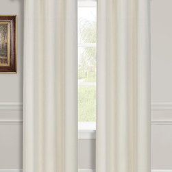 Dainty Home - Ivory Striated Blackout Window Panel - Set of Two - Accentuate your home's interior by enhancing a living area's depth and texture with the help of these versatile curtains that let the light in when you want it and block it out when you don't.   Includes two panels Grommet 100% polyester Machine wash Imported