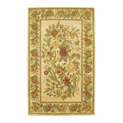 Chandra - Chandra Verona Transitional Hand Tufted Floral Rug X-60197-506REV - Inspired by French romantic art, these hand-tufted wool rugs offer transitional designs with an elegantly classic appeal. The Verona collection showcases floral motifs and symmetrical patterns using soft creams, reds, greens and blacks to achieve a balanced unity and sophisticated appeal perfect for any room.