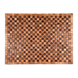 Entryways - Adams Exotic Wood Mat 18x30 - Crafted of exotic wood, this handsome mat will add an elegant touch to any home. It is from Entryways Exotic Woods collection and meets the industry's highest standards. This design combines natural beauty and durability with surprising affordability.
