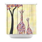 DiaNoche Designs - Shower Curtain Artistic - Room to Grow - DiaNoche Designs works with artists from around the world to bring unique, artistic products to decorate all aspects of your home.  Our designer Shower Curtains will be the talk of every guest to visit your bathroom!  Our Shower Curtains have Sewn reinforced holes for curtain rings, Shower Curtain Rings Not Included.  Dye Sublimation printing adheres the ink to the material for long life and durability. Machine Wash upon arrival for maximum softness. Made in USA.  Shower Curtain Rings Not Included.