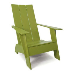 Adirondack Chair - I love this modern iteration of the classic Adirondack silhouette. Plus, since this piece is repurposed from the material used in skate parks, it is pretty indestructible.