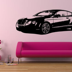 StickONmania - British Luxury Sedan Sticker - A cool  vinyl sticker for your wall. Decorate your home with original vinyl decals made to order in our shop located in the USA. We only use the best equipment and materials to guarantee the everlasting quality of each vinyl sticker. Our original wall art design stickers are easy to apply on most flat surfaces, including slightly textured walls, windows, mirrors, or any smooth surface. Some wall decals may come in multiple pieces due to the size of the design, different sizes of most of our vinyl stickers are available, please message us for a quote. Interior wall decor stickers come with a MATTE finish that is easier to remove from painted surfaces but Exterior stickers for cars,  bathrooms and refrigerators come with a stickier GLOSSY finish that can also be used for exterior purposes. We DO NOT recommend using glossy finish stickers on walls. All of our Vinyl wall decals are removable but not re-positionable, simply peel and stick, no glue or chemicals needed. Our decals always come with instructions and if you order from Houzz we will always add a small thank you gift.