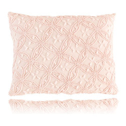 Pine Cone Hill - candlewick pale rose pillow (20x26) - Constructed using a classic stitching technique, the candlewick bedding basics from Pine Cone Hill offer an intriguing texture over soft 100% cotton. Mix & match from 12 rich colors for the perfect demure accent or bold centerpiece to a cozy, vintage-inspired bedroom.