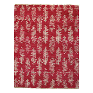 Aspen rug in Spice Red - Both sophisticated and contemporary, the Aspen rug takes inspiration from nature and creates an elegant pattern for any room.