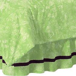 Sweet Jojo Designs - Green Peace Bedskirt - The Green Peace Bed Skirt by Sweet Jojo Designs will help complete the look of your child's room. This skirt, or dust ruffle, adds the finishing touch while conveniently hiding under-the-bed storage.