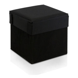 Furinno - Furinno Oxford 10060R1BK Square Storage, Black, Square - Furinno Oxford Series Foldable Storage Stool Ottoman is made for simple yet functional purposes. 1) Structure: The unit serves not only as storage compartment, it serves as a stool for kids and adults. 2) Material: The outer layer cover is made of Oxford fabric and non-woven fabric. The insert walls are made of MDF fiber board. The top cover seat is filled with sponge for seating comfort. The materials are environmental friendly and overall durable. 3) A simplistic and minimalist furnishing attitude is expressed through this series of furniture. Most of our customers love to put our multipurpose furniture into kids usage as our products fit in your space and fits on your budget and most importantly size perfect for juniors.