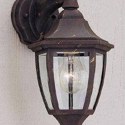 "Designers Fountain - Designers Fountain 2461-AG 1 Light 7"" Cast Aluminum Wall Lantern - Features:"