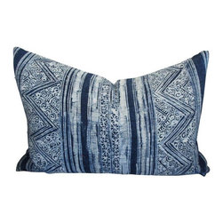 Pre-owned Blue Batik Print Pillow - Throw pillows are the cherry on top for your decor. Layer on this fabulous blue and white Batik print pillow for the ultimate finishing touch. This pillow is indigo, perfect for your Bohemian or eclectic decor.