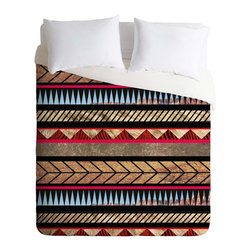 "Inova Team -Modern 100% polyester Duvet Cover, Queen 88"" X 88"" - Aztec designs overlay a stunning outdoor landscape on this fetching duvet cover. If you can't sleep under the stars, this is as close as it gets."