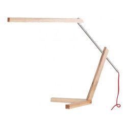 ParrotUncle - Desk Lamp with Wood Shade - Lovely task table lamp is the best gift for your kids. It will not just bring you bright light for reading, and also inspire the interests for learning. It is simple design with nice connection method will just inspire your life.