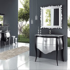 "Macral Global Group - Macral Design Products - Luxury Vanity Bathroom. Paris set 37"". Black-Silver."
