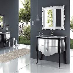 """Macral Global Group - Macral Design Products - Luxury Vanity Bathroom. Paris set 37"""". Black-Silver."""