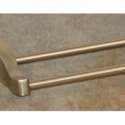 Top Knobs - Top Knobs Aqua Bath 30 in. Double Towel Rod - Top Knobs Aqua Bath 30 in. Double Towel Rod   Cabinet Hardware