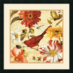 Amanti Art - Rainbow Garden Spice III Framed Print by Lisa Audit - Decorate with springtime year round with this garden floral piece by Lisa Audit.