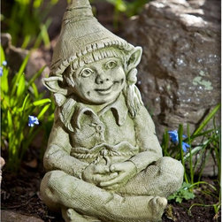 Campania International - Campania International Aria The Elf Cast Stone Garden Statue - S-389-AL - Shop for Statues and Sculptures from Hayneedle.com! About Campania InternationalEstablished in 1984 Campania International's reputation has been built on quality original products and service. Originally selling terra cotta planters Campania soon began to research and develop the design and manufacture of cast stone garden planters and ornaments. Campania is also an importer and wholesaler of garden products including polyethylene terra cotta glazed pottery cast iron and fiberglass planters as well as classic garden structures fountains and cast resin statuary.Campania Cast Stone: The ProcessThe creation of Campania's cast stone pieces begins and ends by hand. From the creation of an original design making of a mold pouring the cast stone application of the patina to the final packing of an order the process is both technical and artistic. As many as 30 pairs of hands are involved in the creation of each Campania piece in a labor intensive 15 step process.The process begins either with the creation of an original copyrighted design by Campania's artisans or an antique original. Antique originals will often require some restoration work which is also done in-house by expert craftsmen. Campania's mold making department will then begin a multi-step process to create a production mold which will properly replicate the detail and texture of the original piece. Depending on its size and complexity a mold can take as long as three months to complete. Campania creates in excess of 700 molds per year.After a mold is completed it is moved to the production area where a team individually hand pours the liquid cast stone mixture into the mold and employs special techniques to remove air bubbles. Campania carefully monitors the PSI of every piece. PSI (pounds per square inch) measures the strength of every piece to ensure durability. The PSI of Campania pieces is currently engineered at approximately 7500 for optimum strength. Each piece is air-dried and then de-molded by hand. After an internal quality check pieces are sent to a finishing department where seams are ground and any air holes caused by the pouring process are filled and smoothed. Pieces are then placed on a pallet for stocking in the warehouse.All Campania pieces are produced and stocked in natural cast stone. When a customer's order is placed pieces are pulled and unless a piece is requested in natural cast stone it is finished in a unique patinas. All patinas are applied by hand in a multi-step process; some patinas require three separate color applications. A finisher's skill in applying the patina and wiping away any excess to highlight detail requires not only technical skill but also true artistic sensibility. Every Campania piece becomes a unique and original work of garden art as a result.After the patina is dry the piece is then quality inspected. All pieces of a customer's order are batched and checked for completeness. A two-person packing team will then pack the order by hand into gaylord boxes on pallets. The packing material used is excelsior a natural wood product that has no chemical additives and may be recycled as display material repacking customer orders mulch or even bedding for animals. This exhaustive process ensures that Campania will remain a popular and beloved choice when it comes to garden decor.Please note this product does not ship to Pennsylvania.