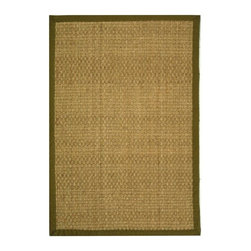 Safavieh - Natural Fiber Rug (5 ft. x 3 ft.) - Size: 5 ft. x 3 ft. Traditional style. Power loomed. Hand-woven. Soft and durable. Made from sisal and natural sea grass. | Natural and olive color.