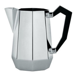 Alessi - Ottagonale Milk Jug by Alessi - The Alessi Ottagonale Milk Jug is a creamer with truly geometric elegance. The Black Bakelite handle complements the sharp angles of the stainless steel jug, while offsetting its gleaming, silvery finish. Part of the Ottagonale tea and coffee service, a re-release of the collection first designed by Carlo Alessi in the mid-1930s. Alessi, known as the Italian design factory, has manufactured household products since 1921. The stylish and fun items offered are the result of contemporary partnerships with some of the world's best designers of unique and modern home accessories.