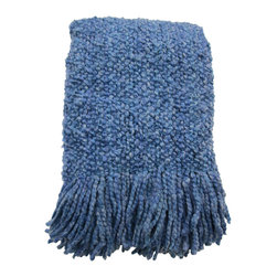 Kennebunk Home - Camelot Throw, Sapphire - The throw that started it all back in 1980!  Camelot truly is the classic, the boucle throw that started the trend.  Camelot is a yarn story that is soft, light, and lofty. A gift that always pleases.