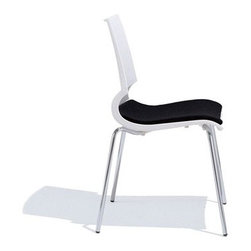 """Knoll - Gigi Side Chair with Seat Pad - THE DESIGN 