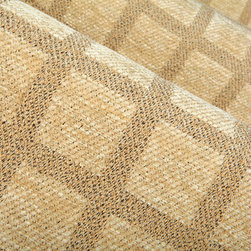 Grid Upholstery Fabric in Parchment - Grid Upholstery Fabric in Parchment Cream. Discount Cotton Blend patterned chenille upholstery fabric perfect for upholstering sofas, chairs and other furniture, or pillows.