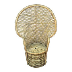 Vintage Rattan & Wicker Peacock Chair -