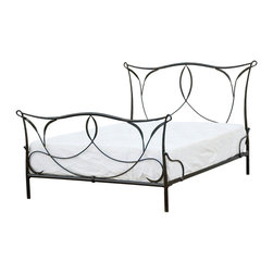 Four Hands - Sienna Iron Bed, King - Wake up to Mediterranean romance every day! Hand-forged with graceful curves and whimsical scrolls, this iron bed is simply dreamy.