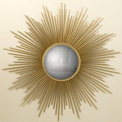 Bullseye Sunburst Mirror, Large - Who doesn't love a great sunburst mirror? The classic style looks good in just about any setting. This one would look great in an entry above a console table or in a living room above a sofa.
