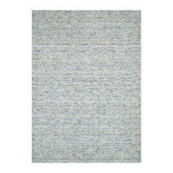 Simple Yet Chic Rug in Gray - With a select palette of subtle hues, the Simple Yet Chic Rug is elegant and eye-catching. Recycled silk sari fabric is woven together with looped wool for a delicate textural effect. The piece evokes versatility through texture and design, allowing your rug to not only look good but feel good too.