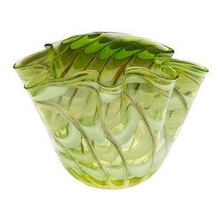 Cyan Design - Cyan Design Large Francisco Bowl in Green and Yellow - Large Francisco Bowl in Green and Yellow