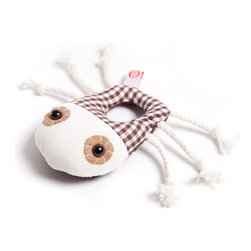 OOTS! - Gilbert Beetle Rattle - Why pick an ordinary bunny rattle when this cute friendly bug is ready to play? With his enticing wide eyes that won't protest when they're poked, and an easy-to-grab ring body, baby will love giving Gilbert Beetle a good shake and tugging his six wiggly legs.