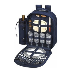 Picnic at Ascot - Bold Backpack for Four - Features: