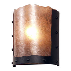 Steel Partners Inc - Timber Ridge Sconce - RIVETS - Every piece we create is unique — handcrafted at our factory in Chehalis, Washington, USA. Due to this, lead times are 2 to 4 weeks.