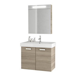 ACF - 30 Inch Larch Canapa Bathroom Vanity Set - Add this designer-quality, contemporary bath vanity to your already contemporary & modern personal bathroom.