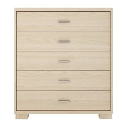 Manhattan Comfort - Astor Dresser, Oak Vanilla - A great piece of furniture that will enhance any space, the Astor Dresser is compact and smooth, with 5 roomy drawers. Choose from 5 beautiful colors to match your bedroom decor. The unique paint is protected by the Microban Antibacterial Protection.