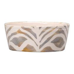 Vietri - Safari Cereal Bowl - Handmade of terra bianca in Tuscany. Dishwasher Safe.