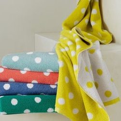 Dot to Dot Polka Dot Towel - Each child could take a different color of these fun polka dot towels.