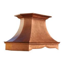Copper Range Hoods | Sierra | Vogler - Custom Copper Sierra Range Hood by Vogler Metalwork & Design.