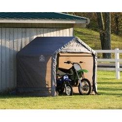 ShelterLogic - Peak Style Storage Shed, 6' x 6' x 6', Grey Cover - Features: