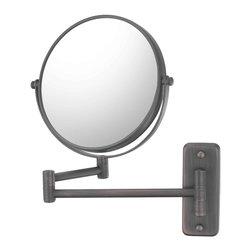 Kimball & Young Aptations Mirror Image 211-5X Series Double Arm Wall Mirror 2114 - Pivot Arm Wall Mirror