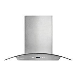"""Cavaliere - Cavaliere-Euro SV218D-I Stainless Steel Island Mount Range Hood - 30"""" - Cavaliere Stainless Steel 218W Island Mounted Range Hoods with 6 Speeds, Timer Function, LCD Keypad, Aluminum Grease Filters, and Halogen Lights."""