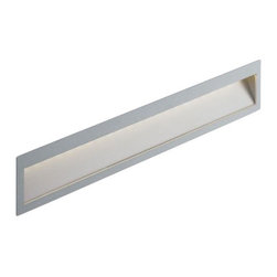 Nimbus - Nimbus Zen In S X-long wall recessed light - The Zen In S X-long wall recessed light was designed and made by Nimbus in Germany. This modern LED fixture is an efficient and elegant lamp that is perfectly suitable for near-ground installation for any use home or office. The light output of the Zen In S X-long is distributed 100% directly but asymmetrically with a radiation angle of approximately 45 . The fixture is an elegant square and extremely flat surface mounted wall light with naturally anodised aluminium housing. Multiples conic identations, ultra-modern LED provide a total power of 6 watts integrated in the luminaire and spread a light output which is equivalent to the power of a 80 watts halogen bulb. The lamp is available in color temperatures of 2700 Kelvin (extra - warm white) 3000K (warm white) and 4000 Kelvin (neutral white). Also Zen In S X-long comes in cavity mounted version or with flush-mounted installation kit with or without converter space. An external converter is required and not included in the package - please order separately.         Product Details: The Zen In S X-long wall recessed light was designed  and made by Nimbus in Germany. This modern LED  fixture is an efficient and  elegant lamp that is perfectly suitable for near-ground installation for any use  home or office. The light output of the Zen In S X-long is  distributed 100%  directly but asymmetrically with a radiation angle of approximately 45 .  The fixture is an elegant square and extremely flat surface mounted wall light with naturally anodised aluminium housing. Multiples conic identations, ultra-modern LED provide a total power of 6 watts integrated in the luminaire and spread a light output which is  equivalent to the power of a 80 watts halogen bulb. The lamp is available in color temperatures of 2700 Kelvin (extra - warm white) 3000K (warm white) and 4000 Kelvin (neutral white).  Also Zen In S X-long comes in cavity mounted version or with flush-mounted install