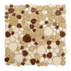 "Home Elements - Porcelain Pebble Tile, 4""x4"" Sample - Product Description"