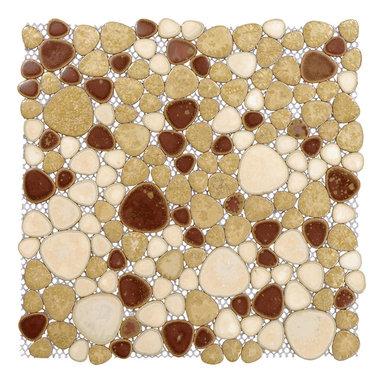 """Home Elements - Porcelain Pebble Tile, 4""""x4"""" Sample - Product Description"""