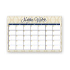 Ann Page - Beige & Navy Chandelier Monthly Personalized Desk Pad - Keep track of important monthly meetings, appointments and special events thanks to this 16-sheet desk pad calendar for organizing your weekly routine. Place your name on top for adding a personal touch to the home or office's décor.   17'' W x 11'' H Paper 16 sheets Made in the USA