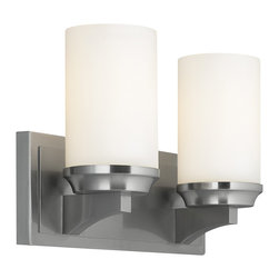 Murray Feiss - Murray Feiss Amalia Transitional Wall Sconce X-SB-20064SV - Inspired by a vintage shelf candle holder, the Amalia Collection creates the transitional column candle look with a sleek, smooth profile which hides all hardware. The cylindrical, glass shade sits atop the tapered shelf detail.