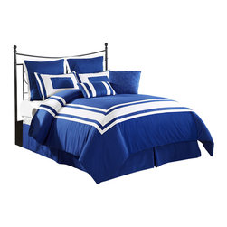Lux-Decor Down Alternative Comforter Set, Blue, California King - Wrap yourself in the Softness of the Lux Decor Comforter Set found in World Class Hotels. Comfort, quality and opulence sets our luxury bedding in a class above the rest. Elegant yet durable, their softness is enhanced with each washing.